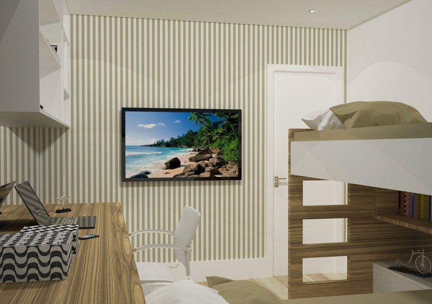 Dormitório-Beliches 2-Parque Jambeiro- Bianca Sefidvash Arquitetura e Interiores
