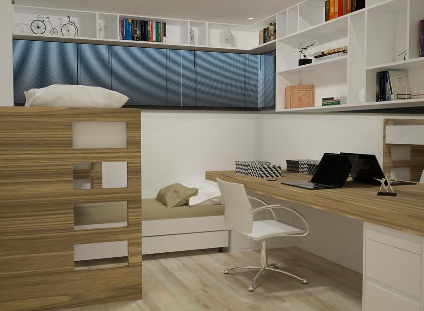 Dormitório-Beliches-Parque Jambeiro- Bianca Sefidvash Arquitetura e Interiores